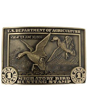 1st Ed 50th Anniversary Federal Duck Stamp Buckle